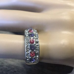 Pink and Purple Stone Ring Size 7